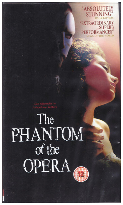 The Phantom Of The Opera VHS from Entertainment In Video (EVS 1532)
