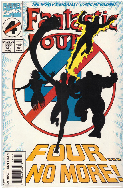 Fantastic Four #381 Oct 93 from Marvel Comics