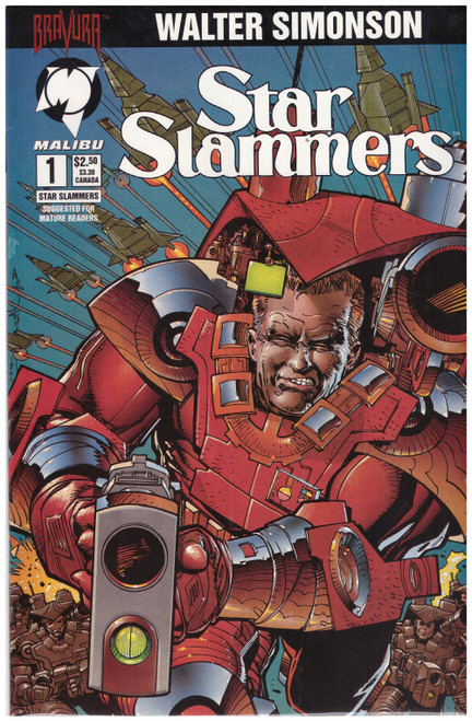 Star Slammers #1 May 94 from Malibu Comics