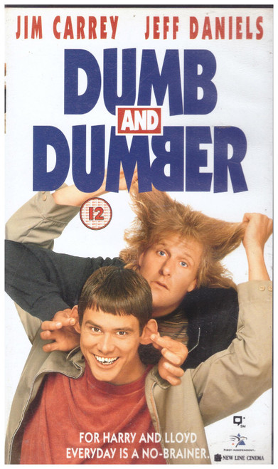 Dumb And Dumber VHS from First Independent (CC 7970)