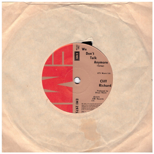 We Don't Talk Anymore by Cliff Richard from EMI (EMI 2975)