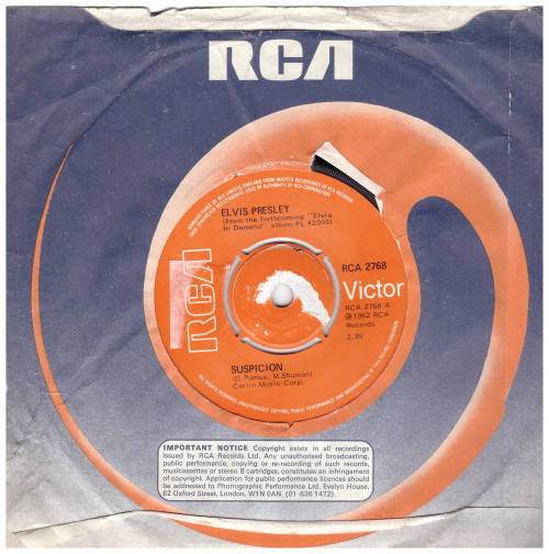 Suspicion by Elvis Presley from RCA (RCA 2768)