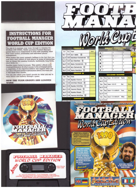 Football Manager World Cup Edition for ZX Spectrum from Addictive