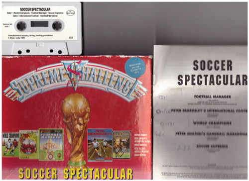 Supreme Challenge: Soccer Spectacular for ZX Spectrum from Beau-Jolly