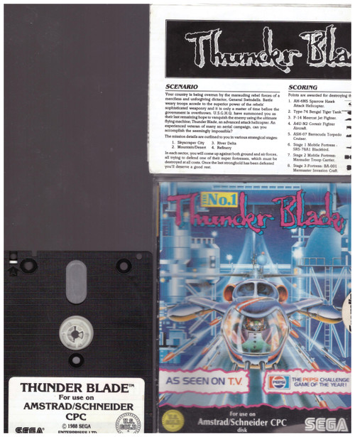 Thunder Blade for Amstrad CPC from U.S. Gold on Disk