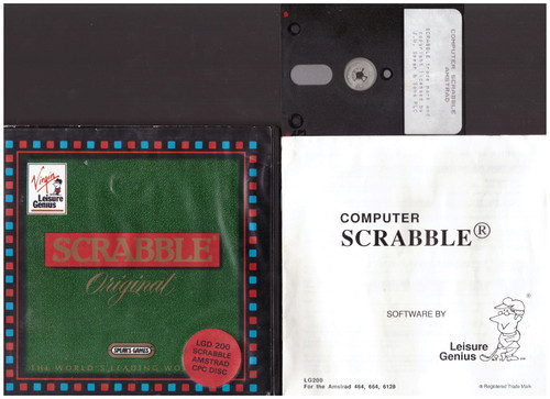 Computer Scrabble for Amstrad CPC from Leisure Genius on Disk (LGD 200)