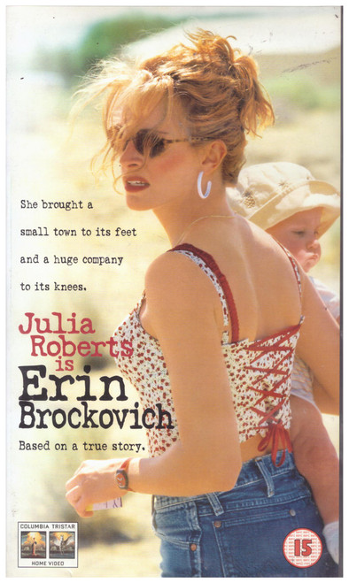 Erin Brockovich VHS from Columbia Tristar Home Entertainment (CVR 30598)