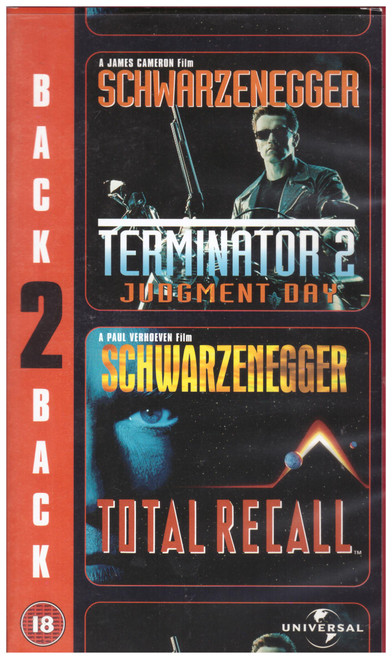 Terminator 2/Total Recall VHS from Universal (903 8993)