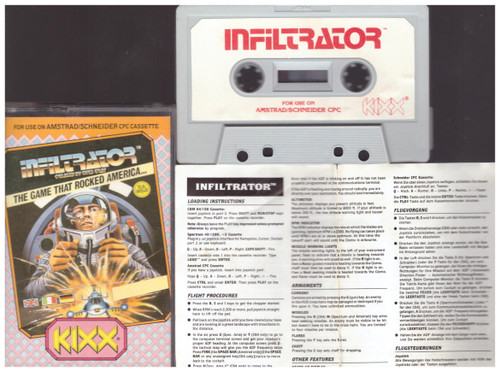 Infiltrator for Amstrad CPC from Kixx