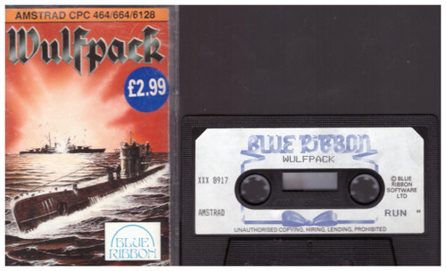 Wulfpack for Amstrad CPC from Blue Ribbon (XXX 8917)