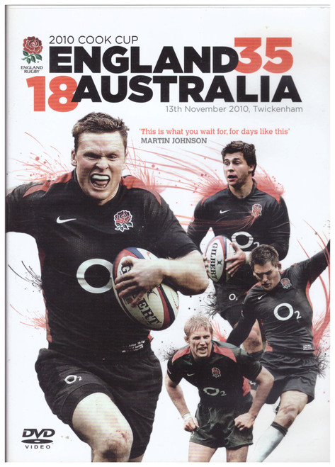 2010 Cook Cup England 35-18 Australia from Go Entertain on DVD (GRD3022)