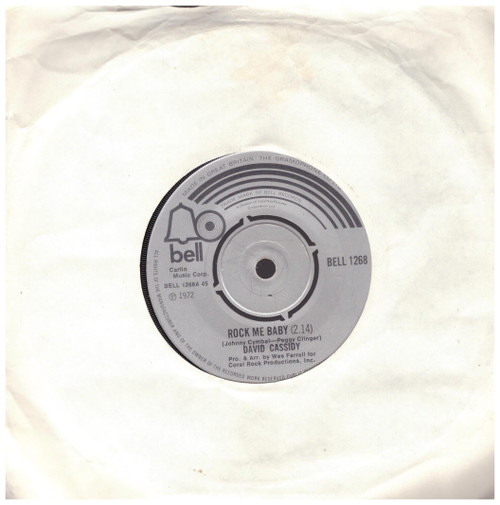 Rock Me Baby/Two Time Loser by David Cassidy from Bell (BELL 1268)