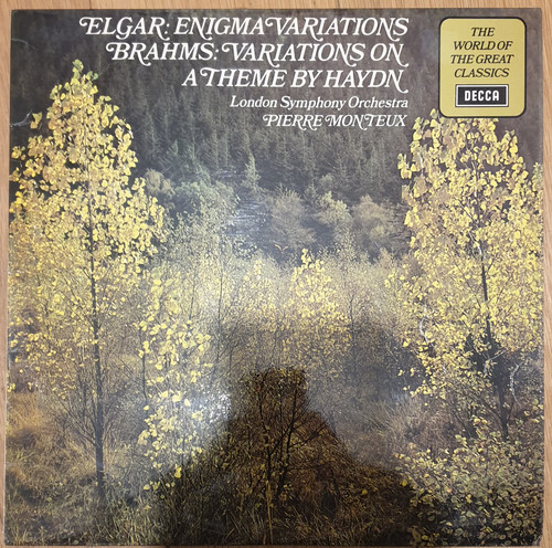 Elgar: Enigma Variations/Brahms: Variations On A Theme By Haydn from Decca (SPA 121)