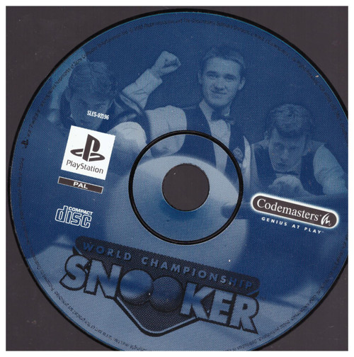 World Championship Snooker PAL for Sony Playstation 1/PS1 from CodeMasters