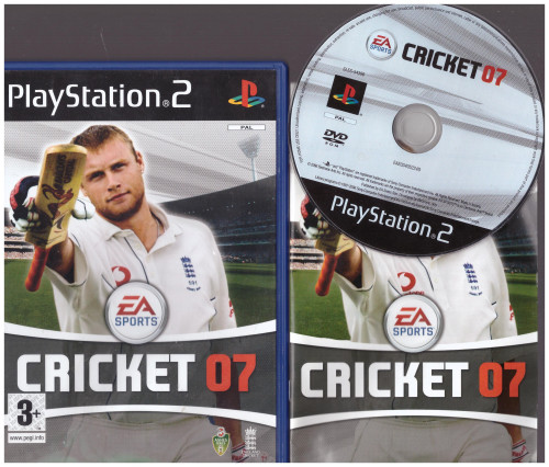 Cricket 07 for Sony Playstation 2/PS2 from EA Sports (SLES 54396)