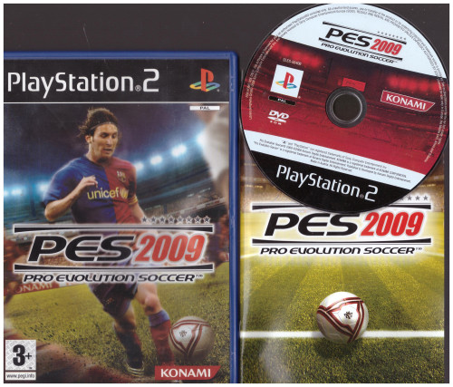 Pro Evolution Soccer 2009 (PES 2009) for Sony Playstation 2/PS2 from Konami (SLES 55406)