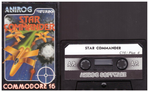 Star Commander for Commodore 16/Plus 4 from Anirog