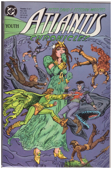 Atlantis Chronicles #3 May 90 from DC Comics