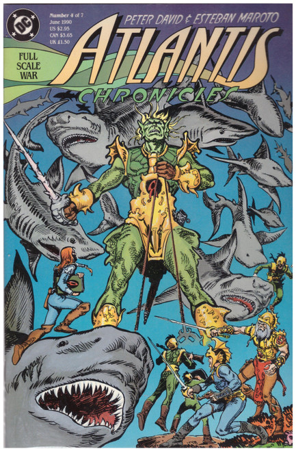 Atlantis Chronicles #4 Jun 90 from DC Comics