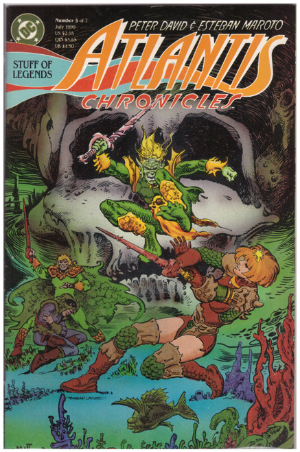 Atlantis Chronicles #5 Jul 90 from DC Comics