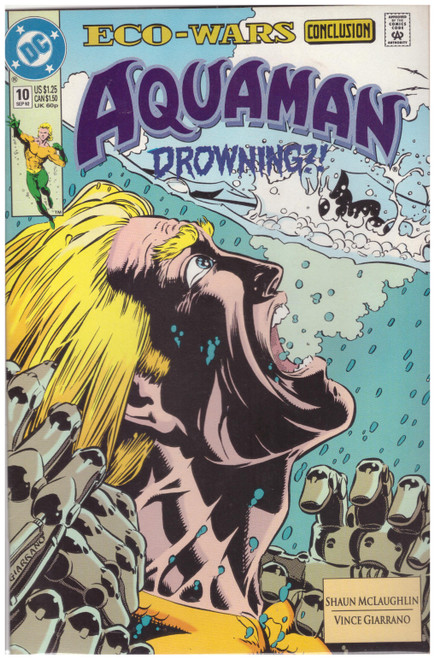 Aquaman #10 Sep 92 from DC Comics