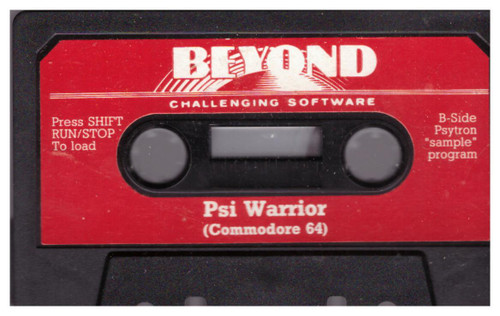 Psi Warrior Tape Only for Commodore 64 from Beyond Software