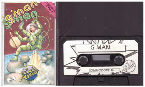 'G'man for Commodore 16/Plus 4 from CodeMasters (4011)