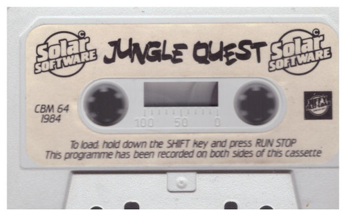 Jungle Quest Tape Only for Commodore 64 from Solar Software
