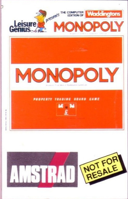Monopoly for Amstrad CPC from Leisure Genius