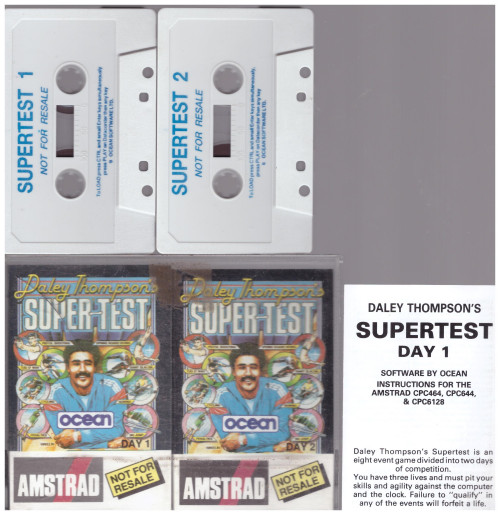 Daley Thompson's Super-Test for Amstrad CPC from Ocean