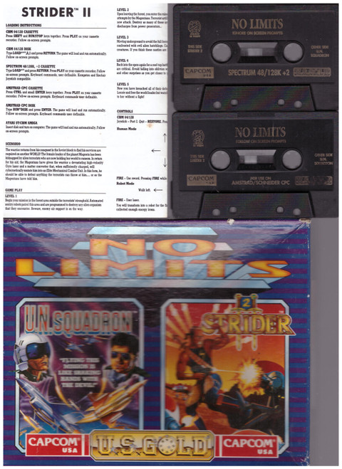 No Limits for Amstrad CPC/ZX Spectrum from U.S. Gold