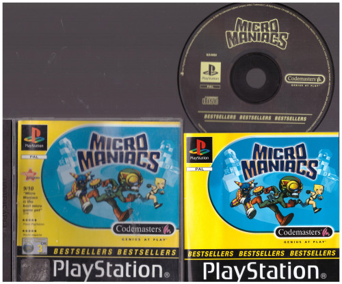 Micro Maniacs for Sony Playstation 1/PS1 from CodeMasters (SLES 01921)
