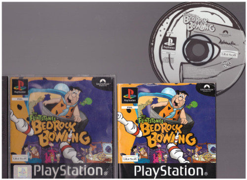 The Flintstones Bedrock Bowling for Sony Playstation 1/PS1 from Ubisoft (SLES 02345)