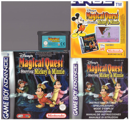 Disney's Magical Quest Starring Mickey & Minnie for Nintendo Gameboy Advance from Capcom (AGB P A3MP)