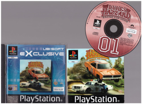 The Dukes Of Hazzard: Racing For Home for Sony Playstation 1/PS1 from Ubisoft (SLES 02343)