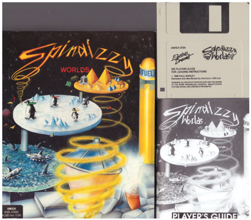 Spindizzy Worlds for Commodore Amiga from Electric Dreams