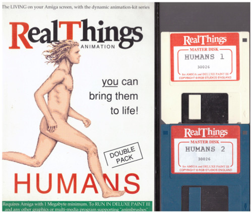 Real Things Animation: Humans for Commodore Amiga from RGB Studios