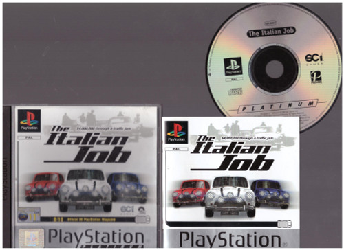The Italian Job for Sony Playstation 1/PS1 from SCi (SLES 03489)