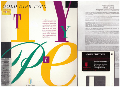 Gold Disk Type for Commodore Amiga from Gold Disk