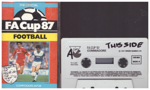 The Official FA Cup 87 Football for Commodore 64 from Virgin Games (VGB 6023)