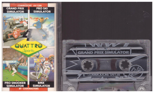 4 Quattro Sports for Commodore 64 from CodeMasters (1288)