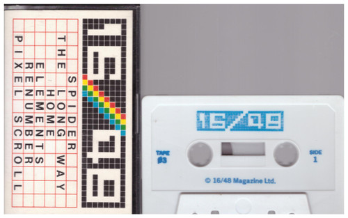 16/48 Computing Issue 03 1984 Covertape for ZX Spectrum