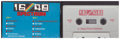 16/48 Computing Issue 12 1984 Covertape for ZX Spectrum