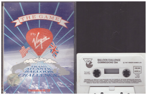 Trans-Atlantic Balloon Challenge for Commodore 64 from Virgin Games (VGB 6026)