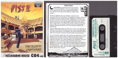 Fist II: The Legend Continues for Commodore 64 from Melbourne House (MH352)