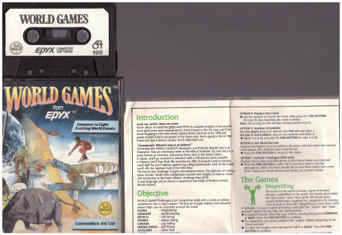 World Games for Commodore 64 Epyx/U.S. Gold