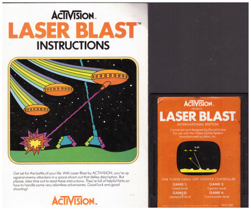 Laser Blast for Atari 2600/VCS from Activision (PAG-008)