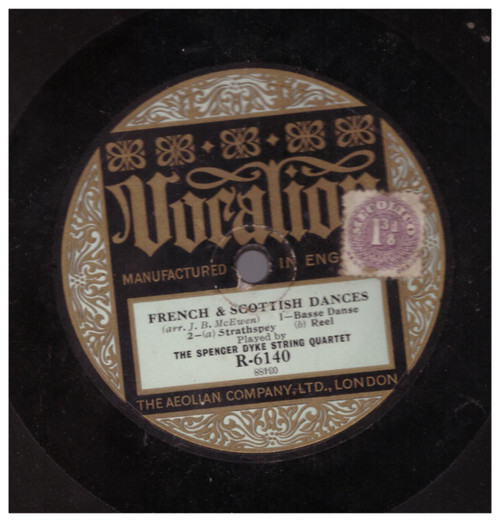 French & Scottish Dances/Japanese Dances by The Spencer Dyke String Quartet from Vocalion (R-6140)