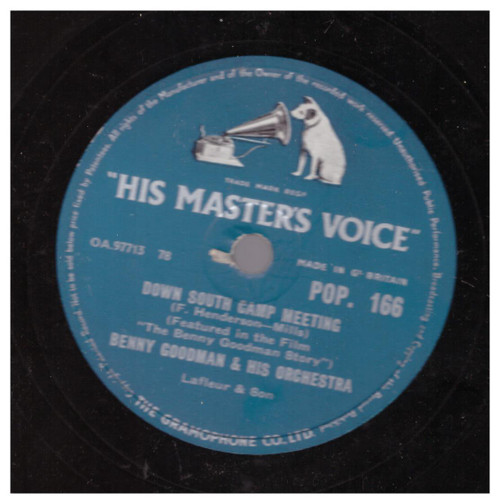 Down South Camp Meeting by Benny Goodman & His Orchestra from His Master's Voice (POP. 166)