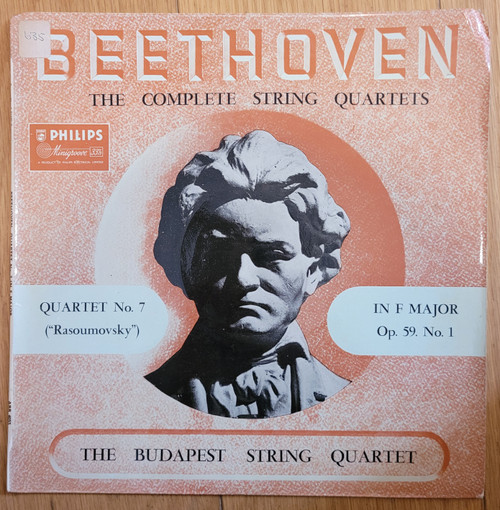 Beethoven: The Complete String Quartets by The Budapest String Quartet from Philips (ABR 4055)